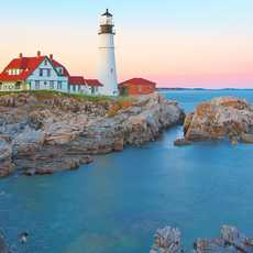Sonnenuntergang beim Portland Head Lighthouse