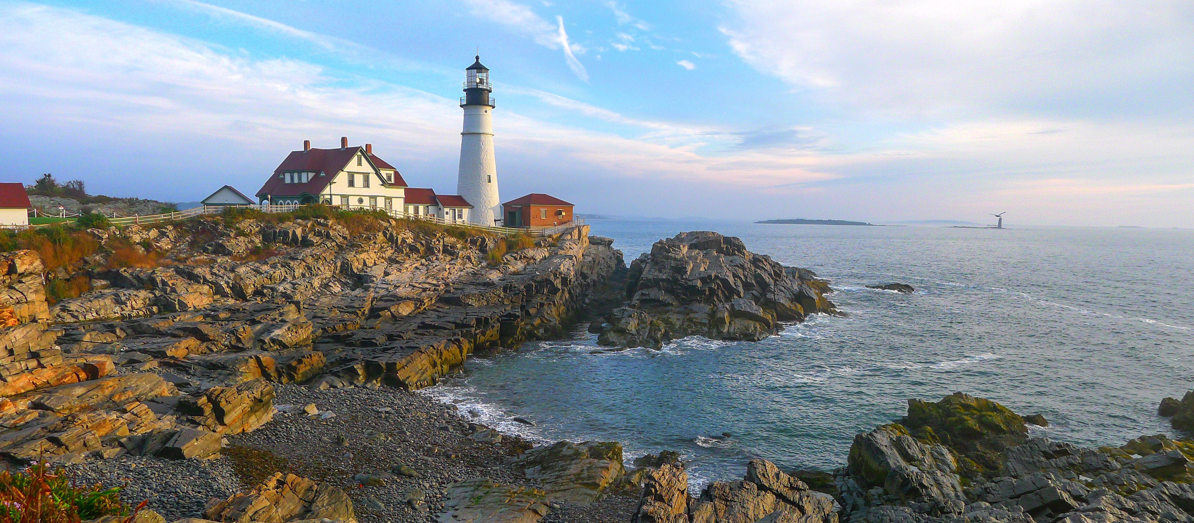 Der Portland Head Light Leuchtturm in Maine