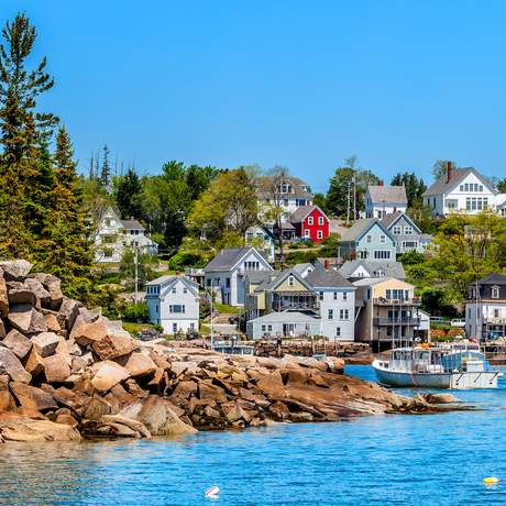 Fischerdorf in Stonington, Maine
