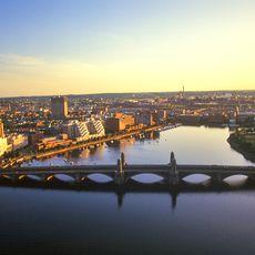 MA: Boston, Back Bay, Boston Skyline and Charles River