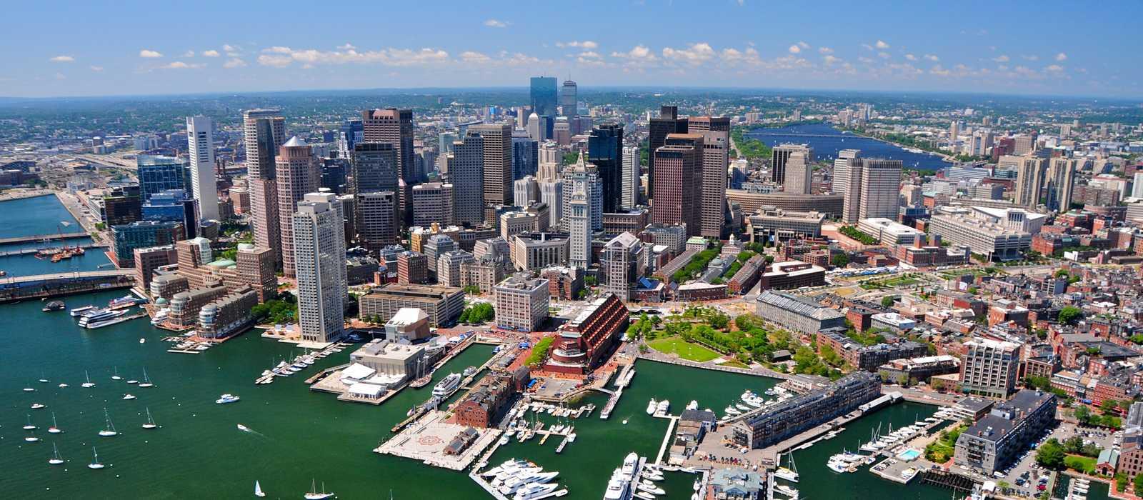 Luftaufnahme von Boston, Massachusetts