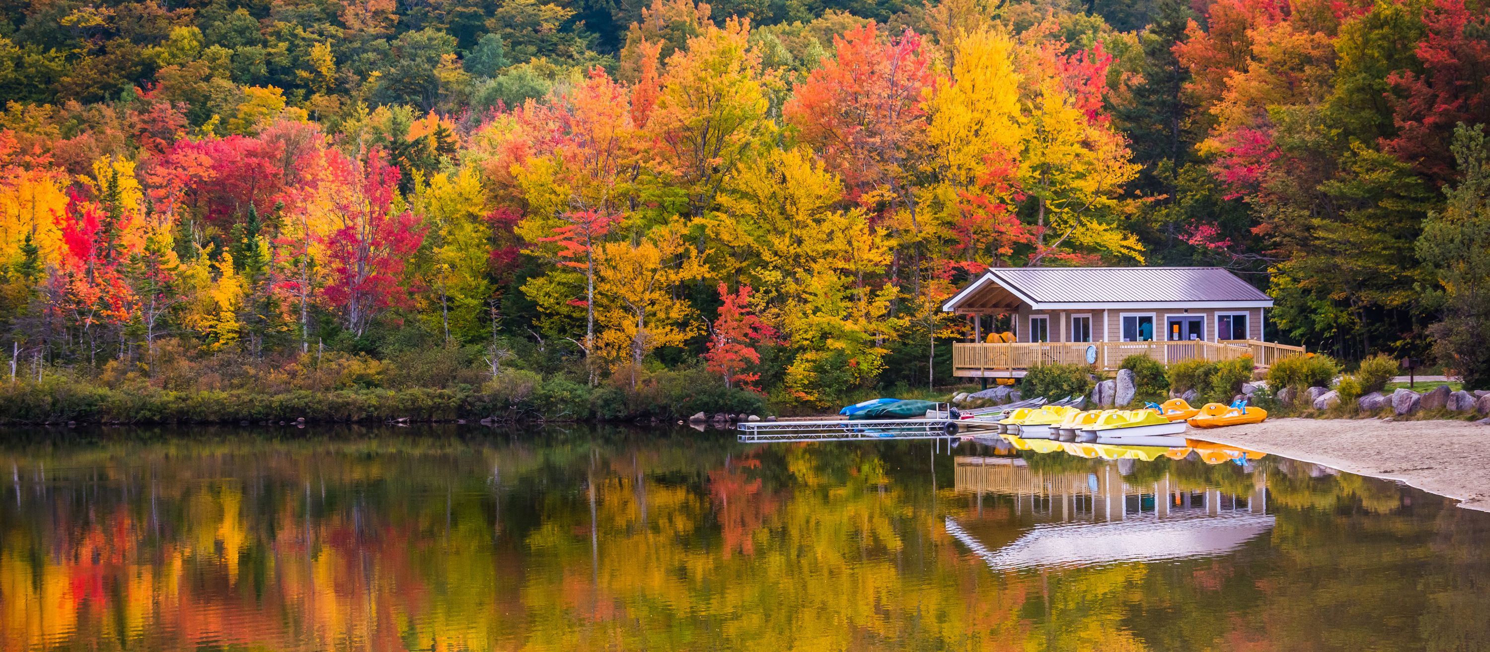 Echo Lake, Franconia Notch State Park, New Hampshire