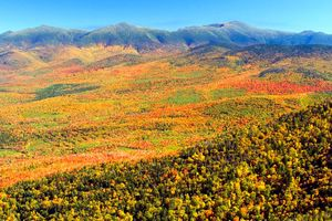 Der Indian Summer in New Hampshire USA