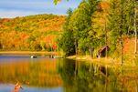 Indian Summer in Vermont in den Neuenglandstaaten der USA
