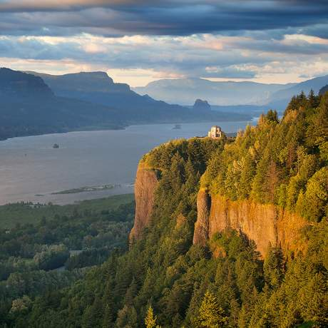 Crown Point Columbia River in Oregon