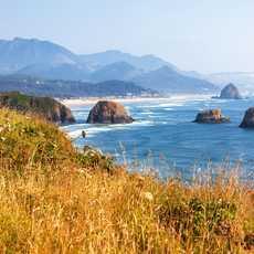 Die Pazifikküste im Ecola State Park