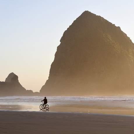 Hayastack Rock am Cannon Beach, Oregon