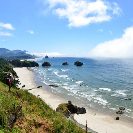 Aussicht auf Cresent Beach, Oregon