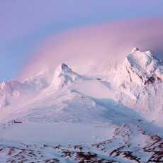 Mount Hood bei Sonnenuntergang