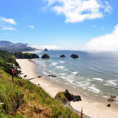 Ein wunderschöner Küstenabschnitt Oregons