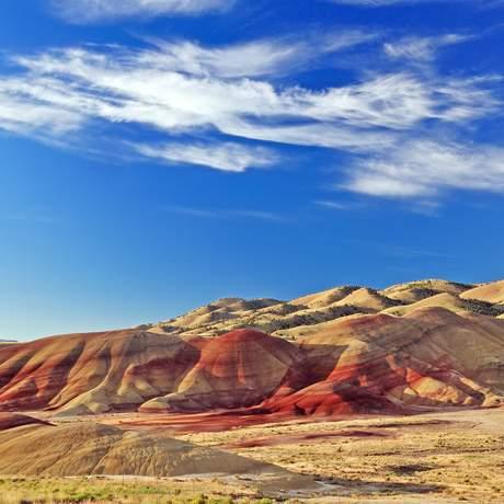 Blick auf die Painted Hills