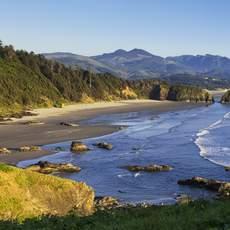 Panorama von Oregons Cannon Beach