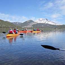 Kajaks auf dem Sparks Lake