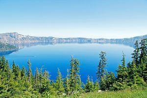Crater Lake National Park in Oregon Nordwesten der USA
