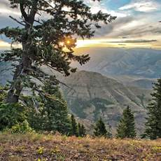 Sonnenuntergang in der Hells Canyon National Recreation Area