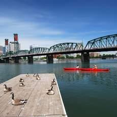 City Kayaking at Portland, Oregon