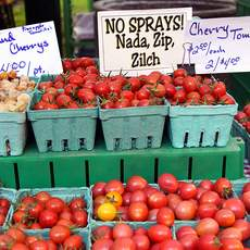 Stand auf dem Portland Farmers Market, Oregon