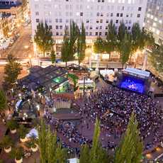 MusicfestNW auf dem Pioneer Courthouse Square in Portland, Oregon