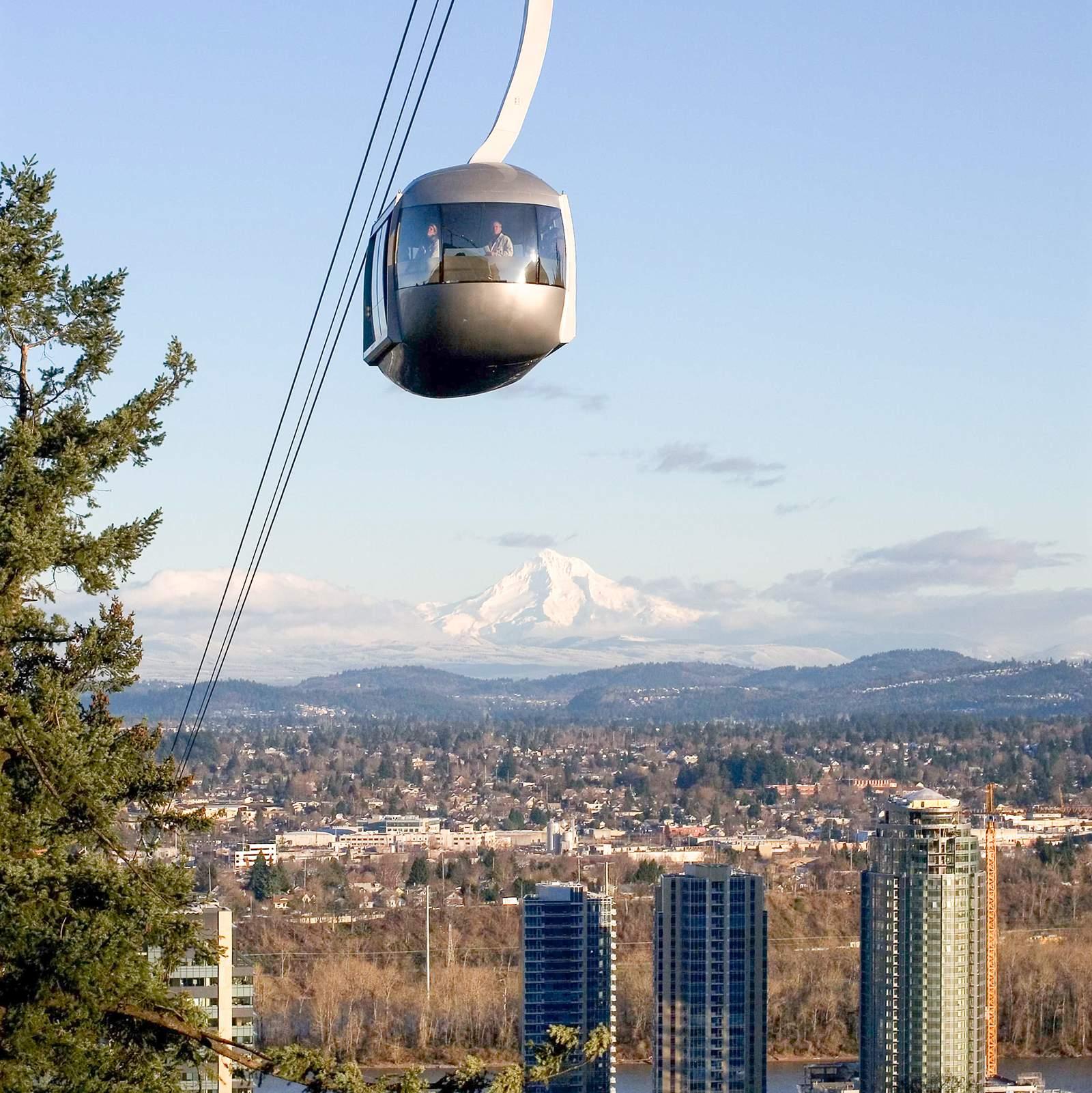 Portland Aerial Tram in Portland, Oregon