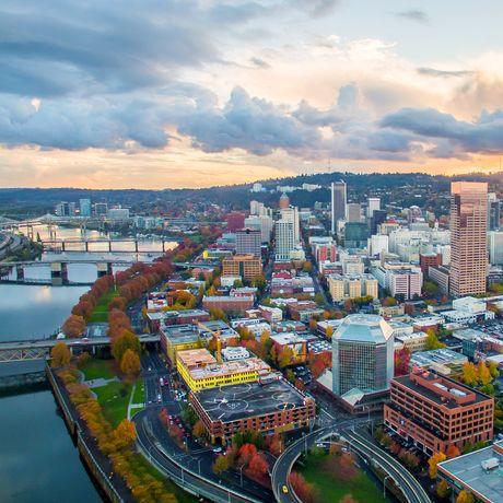 Portland in der Dämmerung