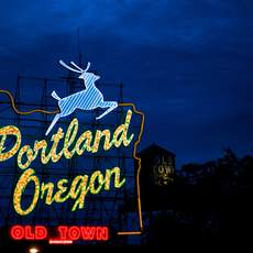 White Stage Sign, Portland, Oregon
