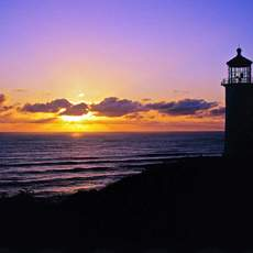 Sonnenuntergang auf der Long Beach Peninsula