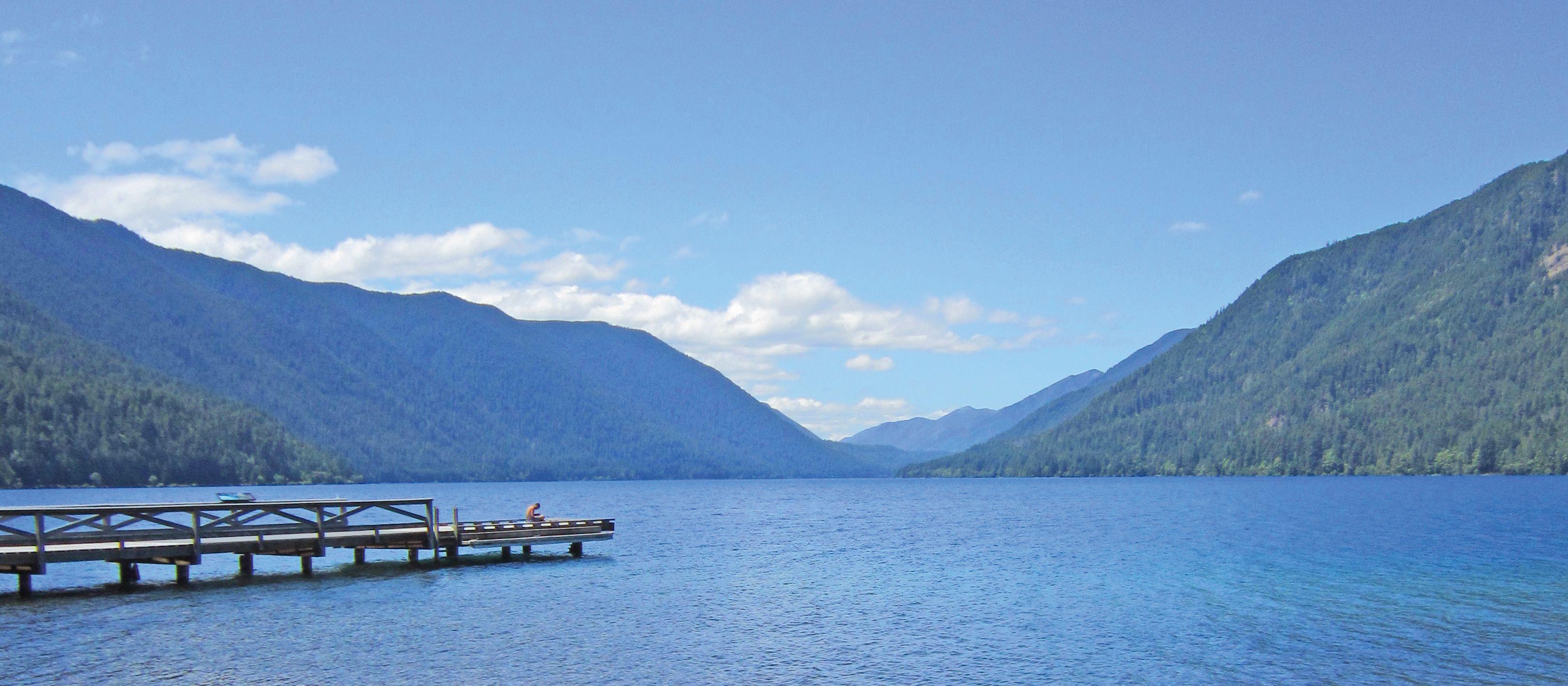 Lake Crescent Kanus am See