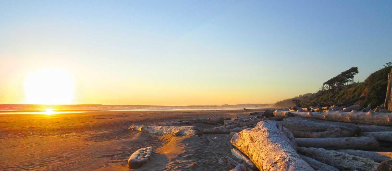 Sonnenuntergang am Ruby Beach