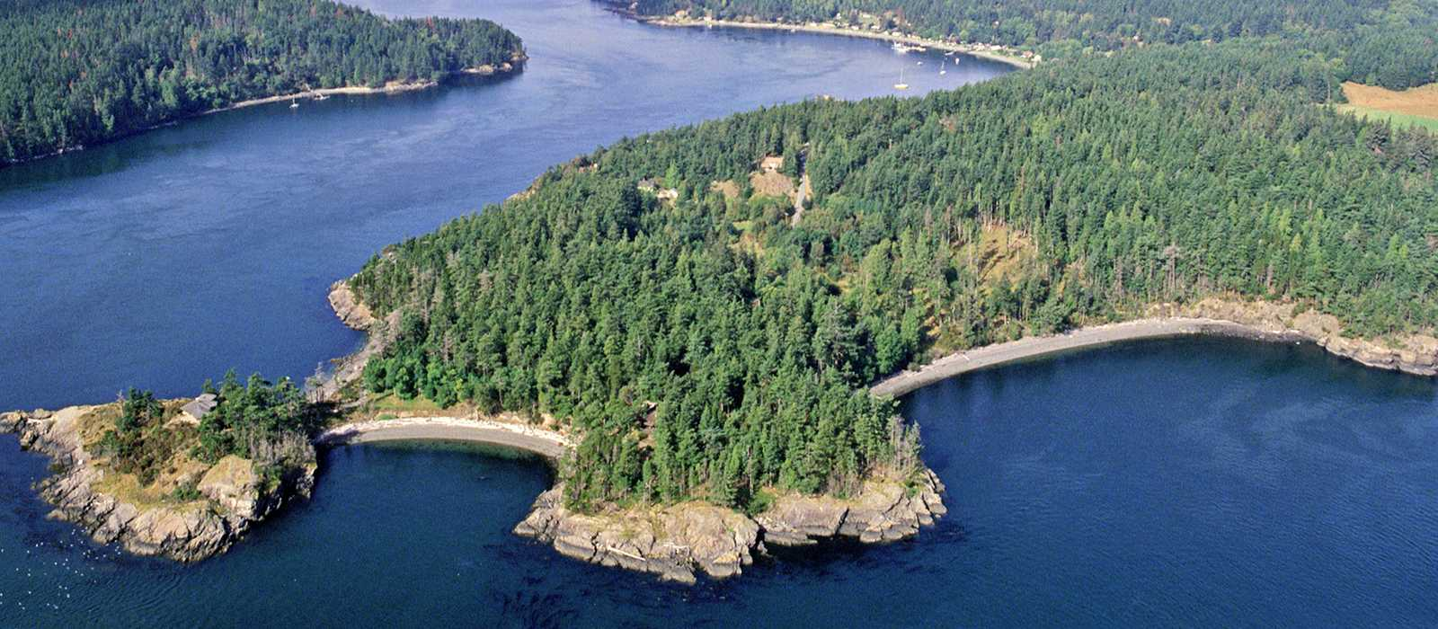 San Juan Islands aus der Luft