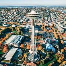 Der Aussichtsturm Space Needle in Seattle