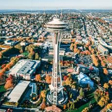 Der Aussichtsturm Space Needle in Seattle