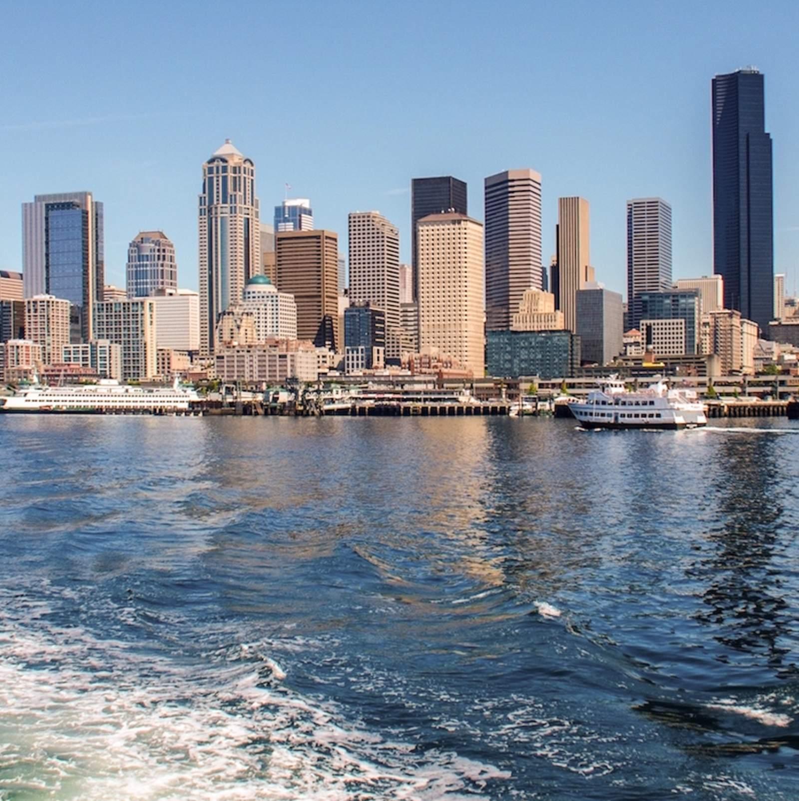 Die Skyline Seattles