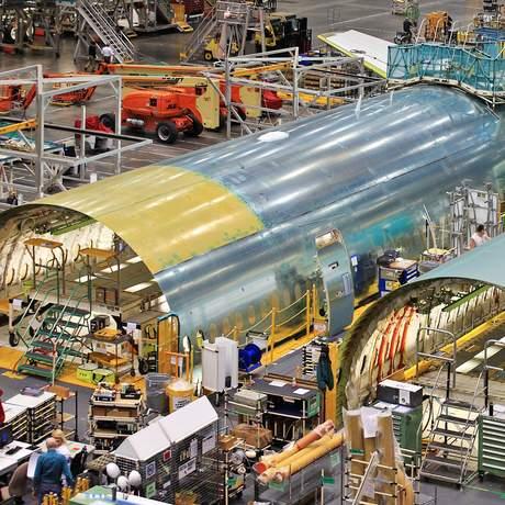 Werkhalle von Boeing