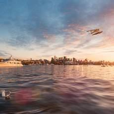Seattle Skyline Sonnenuntergang