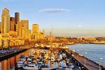 Seattle Waterfront Bell ST. Maria in Washington im Nordwesten der USA