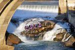 Die Spokane Falls in Washington im Nordwesten der USA