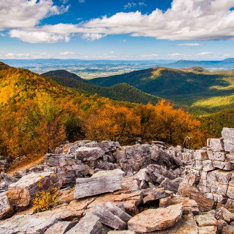 Das Shenandoah Valley und die Blue Ridge Mountains, Shenandoah National Park, Virginia