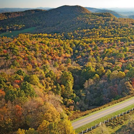 Rocky Knob Recreation Area auf dem Blue Ridge Parkway