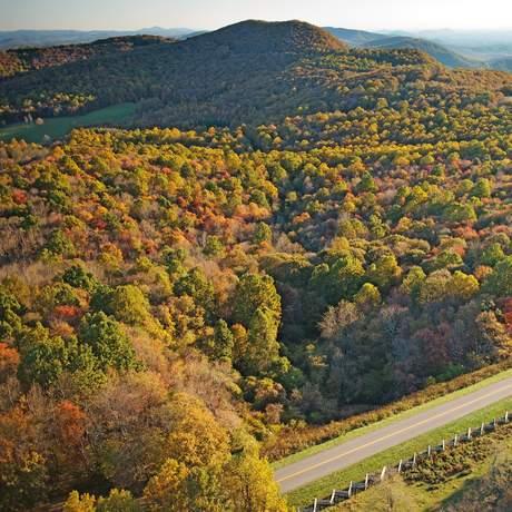 Rocky Knob Recreation Area auf dem Blue Ridge Parkway