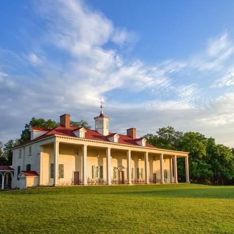 Der Landsitz Mount Vernon in Virginia