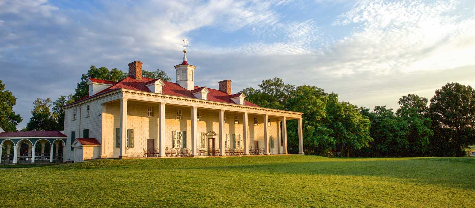 Der Landsitz Mount Vernon in Virginia