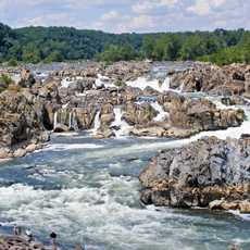 Blick auf die Great Falls