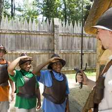 Kids enjoying Jamestown, VA.