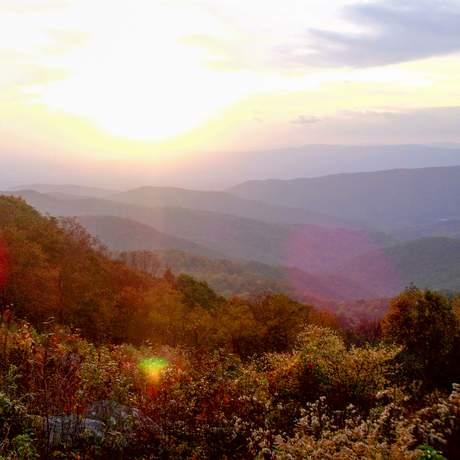 Sonnenuntergang im Shenandoah Nationalpark