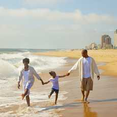 Family togetherness at Virginia Beach