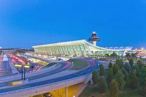 Der Washington Dulles Flughafen in der Capitol Region der USA