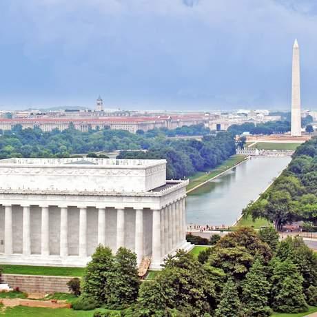 Blick auf das Lincoln Memorial
