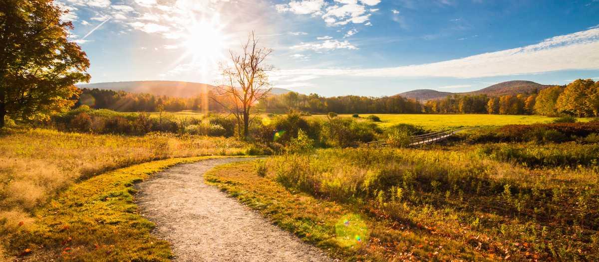 Herbstliche Landschaft in Windham, New York