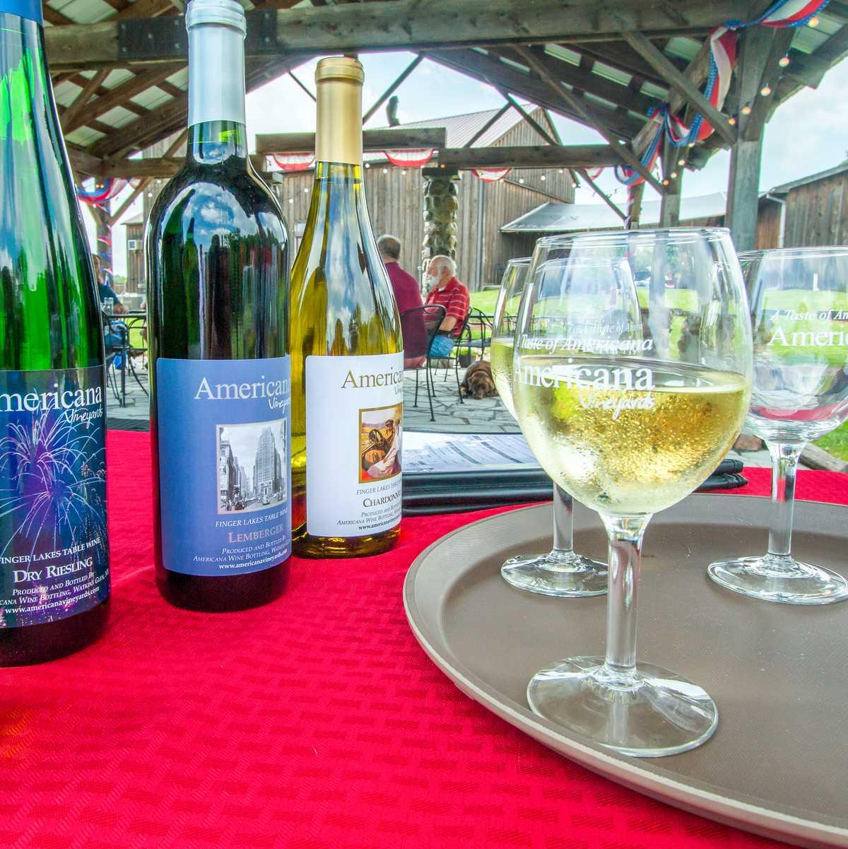 Wein der Americana Winery aus dem Finger Lakes Weinanbaugebiet in den USA