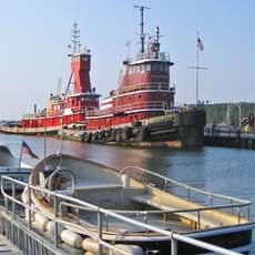 Schlepper im Hafen von Port Jefferson